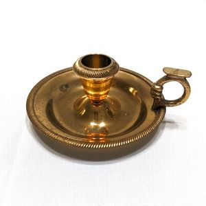 Vintage Indian Brass Chamberstick